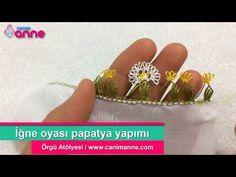 Papatya iğne oyası yapımı - Canım Anne Anne, Floral, Earrings, Flowers, Jewelry, Craft Work, Ear Rings, Stud Earrings, Jewlery