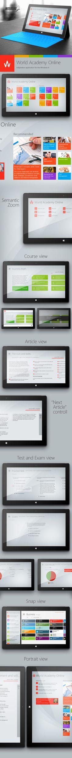 World Academy Online for Windows 8 (Adaptation app for the Windows 8 Modern UI) by Mikhail Nagliy
