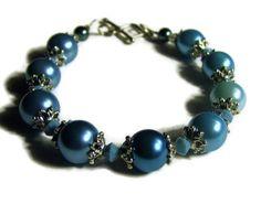 Ocean inspired beaded earrings by www.jewelry4chang... #etsy #handmade #jewelry my-style
