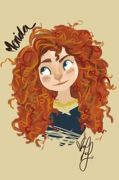 Love Merida (in case you hadn't already noticed) Disney Fan Art, Disney Love, Disney Magic, Disney Pixar, Merida Disney, Brave Merida, Cartoon Drawings, Cool Drawings, Disney Princess Tattoo