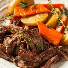 Forget HOURS of cooking, this pot roast is ready FAST! Instant Pot takes pot roast from craving to table in just a few easy steps. Enjoy! | #potroast #instantpot #fast #fastfood #underpressure #pressurecooker #sundaydinner #whatsfordinner #beef #carrots #potatoes #midwestdinner #dinnerdoneright #comfortfood #craving #whatwearecraving Crock Pot Recipes, Pot Roast Recipes, Dishes Recipes, Lunch Recipes, Vegetable Recipes, Drink Recipes, Cooking Recipes, Paleo Whole 30, Whole 30 Recipes
