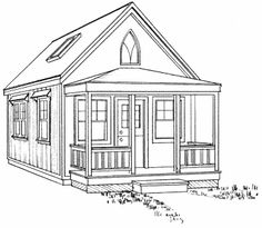 14x24 Builder's Cottage Home Plan; anti-establishment building website