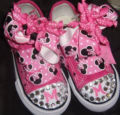 Minnie Mouse Shoes by SweetTsGirls on Etsy, $25.00
