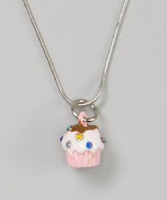 Another great find on #zulily! Pink Cupcake Pendant Necklace #zulilyfinds