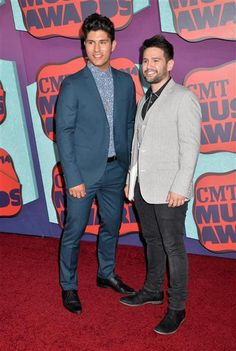 Dan Smyers and Shay Mooney of Dan + Shay attend the 2014 CMT Music Awards at the Bridgestone Arena in Nashville, Tenn., on June 4, 2014. They are so pretty!