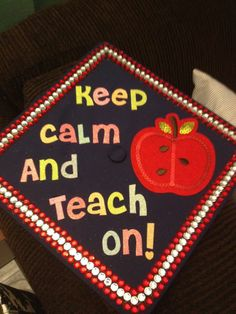 "Graduation Cap Decoration Ideas Teacher [guess Who's Gonna Do This On Her Cap...only It'll Say ""broadcast On"" Or Something Clever. -af]"