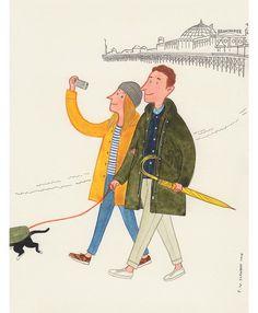"""Brighton"" - London Undercover x Slowboy #mensfashion #mensaccessories #fashionillustration #prints #londonundercover #slowboy"