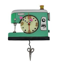 Allen Designs Stitch Sewing Machine Pendulum Wall Clock >>> Check this awesome product by going to the link at the image.