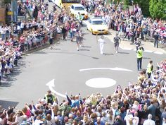 We had a great view of the Olympic torch relay from Maxim HQ.