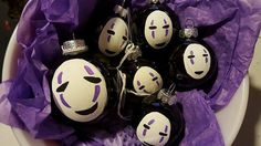 SMALL - No Face Christmas Ornament - Anime Gift - Anime Christmas Ornament - Japanese Inspired Ornament
