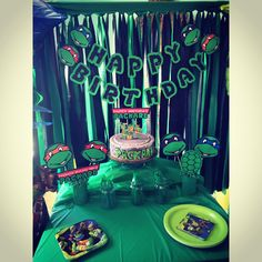 Custom made party for one of my little ones ❤️ I just love TMNT