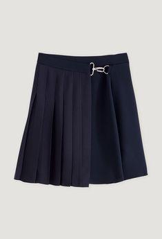 120SICILE Pleated Mini Skirt, Skater Skirt, Mini Skirts, Tweed, Style Preppy, Blazer, Bleu Marine, Couture, Stylists