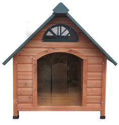Cedar dog house - could convert to duck house Igloo Dog House, Dog Houses, Large Dog House Plans, Wood Dog House, Gable Roof Design, Spotty Dog, Duck House, Farm Fun, Pet Furniture