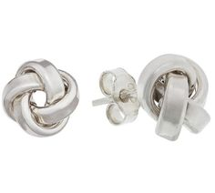 634edc96f Buy Revere Italian Sterling Silver Love Knot Studs at Argos.co.uk, visit