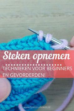 Met breien steken opnemen kan een lastig klusje zijn! Ik vertel je alles over steken opnemen aan de bovenkant, aan de zijkant van breiwerk en langs schuine kan. Loom Knitting, Knitting Stitches, Woodworking Projects, Sewing Projects, Knit Crochet, Crochet Hats, Handicraft, Knitwear, Crochet Patterns