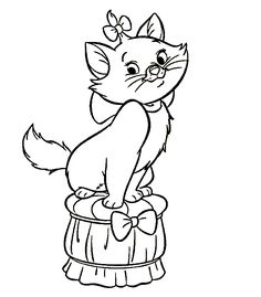 The latest tips and news on disney coloring pages are on color page. On color page you will find everything you need on disney coloring pages. Cat Coloring Page, Disney Coloring Pages, Coloring Book Pages, Printable Coloring Pages, Free Coloring, Coloring Pages For Kids, Coloring Sheets, Adult Coloring, Marie Aristocats