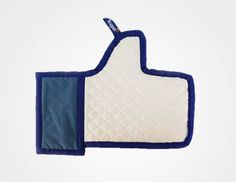 "The Facebook ""Like"" Oven Mitt - For our friends who cannot stop themself posting every recipe they make ;) $28"