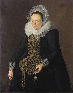 Nicolaes Eliasz. Pickenoy - Portret van een dame (1618)