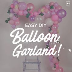 How do I create a simple balloon garland for parties? MamaBeHow do I create a simple balloon garland for parties? Beautify your next event with this simple and affordable DIY balloon garland! Deco Baby Shower, Bridal Shower, Baby Shower Balloon Ideas, Baby Shower Backdrop, Balloon Garland, Balloon Backdrop, Ballon Arch Diy, Diy Garland, Diy Party Backdrop