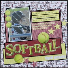 Scrappin' Sports & More: Softball