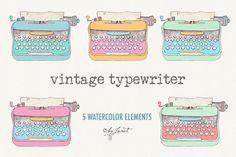 vintage typewriter - Illustrations - 2