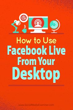 Tips on how to use free open-source software to use Facebook Live on your desktop.