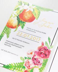 Wedding invitations by www.makeadesign.fi / hääkutsut