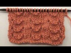 LITTLE SHELL-1vta.Der- 2vta.Rev- 3vta. 2d (laz,1rev,3rev.juntos,1rev,1laz,2der)repetir - 4vta.Rev How to Knit the Little Shell Stitch (English Style) - YouTube