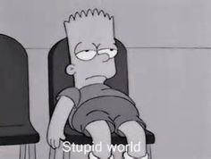 Shared by The Simpsons. Find images and videos about black and white, sad and mood on We Heart It - the app to get lost in what you love. Simpson Wallpaper Iphone, Cartoon Wallpaper, Iphone Wallpaper, Mood Wallpaper, Tumblr Wallpaper, Cartoon Memes, Cartoon Icons, Cartoons, Image Simpson