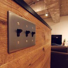 スイッチ/タンブラスイッチ…などのインテリア実例 - 2015-10-27 14:21:52 Interior Architecture, Interior Design, Switch Covers, Love Home, Display Design, Tool Box, My House, House Plans, Modern Design