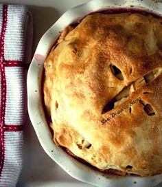Today's a pie kind of day. A Cranberry-Apple Pie kind of day. #reicpe #pie #cooking #baking #dessert #applepie #easyrecipe