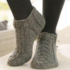 Alaska Knitted Ankle Socks - Free Pattern... Drops designs