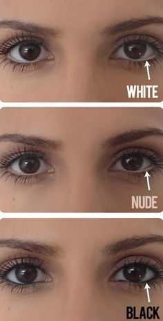 Make your eyes appear larger with a nude eyeliner on your water line! -- 32 Makeup Tips That Nobody Told You About