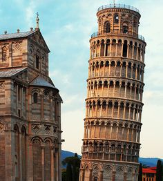 The Leaning Tower of Pisa....its amazing to stand in front of it as it seems so surreal for this structure to still be standing....It it well maintained and still continues to lean.....