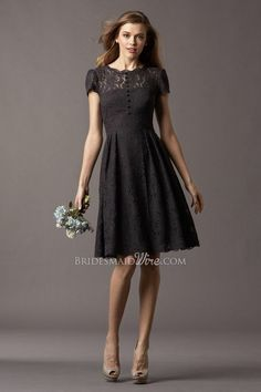 It is lace dress design for bridesmaid but as long as it's black and cute I thing I can wear it to another occasion too... Just think about mix and match it with simple silver flat shoes though..