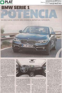Inchcape Motors: Lanzamiento de BMW Serie 1 en el diario La República de Perú (25/06/15)