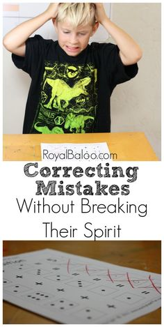 7 tips for correcting kid's mistakes without breaking their spirit.