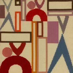 Sophie Taeuber Arp, Tapisserie Dada [Dada Tapestry], 1916, 41 x 41