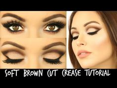 Soft Brown Cut Crease with Too Faced Chocolate Bar Palette | Laura Sommerville - YouTube