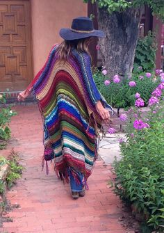 "LONG Handknit Womens Bohemian Festival Hippie Beach Poncho Cape Shawl (""For Elyse"") by poshbygosh on Etsy https://www.etsy.com/listing/241342078/long-handknit-womens-bohemian-festival"