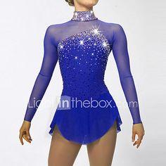 Vestito da pattinaggio artistico Per donna Da ragazza Completo da pattinaggio sul ghiaccio Asciugatura rapida Design anatomico del 2017 a €89.21
