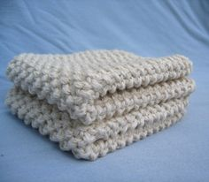 Organic Cotton Washcloths by Erin Mapes