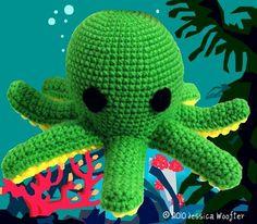 Ravelry: Octopus Crochet Pattern pattern by Jessica Woofter Octopus Crochet Pattern Free, Crochet Octopus, Crochet Patterns, Free Pattern, Cute Crochet, Crochet Toys, Crochet Baby, Yarn Organization, Yarn Bee