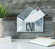 """Envelope Monogram - Organize your mail in customized style with Cricut Explore! This project includes images from the Cricut® Anna's Decorative Monograms digital cartridge.  Click """"Customize"""" to change the monogram to your desired letters!  xoxo, Anna Rose"""