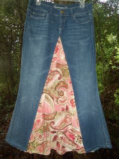 Upcycled Long Jean Skirt