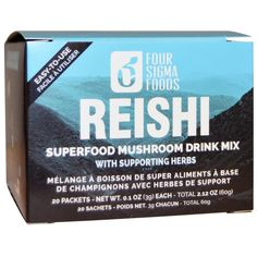 http://pusabase.com/blog/2016/10/23/reishi-superfood-mushroom-drink-mix/ - Review: Four Sigma Foods, Reishi Superfood Mushroom Drink Mix with Supporting Herbs.   #Reishi #Review