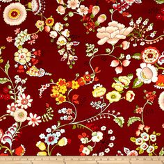 Alexander Henry Bella Strada Speranza Brick Red Fabric