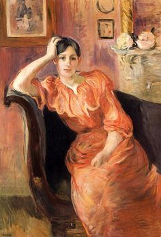 Portrait of Jeanne Pontillon Berthe Morisot (French, Oil on canvas. This portrait is a moving testimony to the art of Berthe Morisot, one of the rare women to integrate the circle. French Impressionist Painters, Impressionist Artists, Impressionism Art, Camille Pissarro, Pierre Auguste Renoir, Edgar Degas, Painting & Drawing, Painting Prints, Art Prints