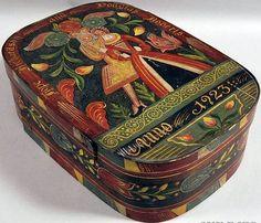 Kaufman Paint-decorated Wedding Box.