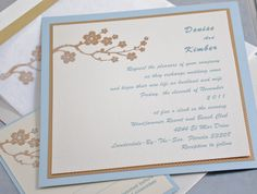 Wedding Invitations - Light and Elegant with Flowers